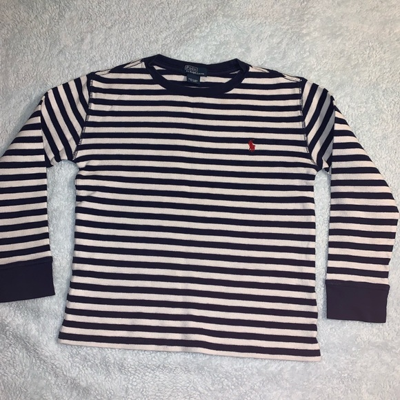 Waffle Sleeve Striped Tee Long Ralph Lauren Polo NXZP08nOkw
